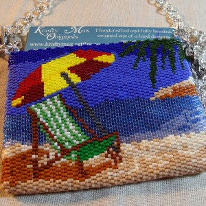 Relaxing on the Beach Beadwoven Purse