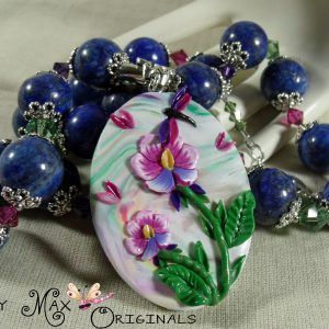 Dragonflies Flutter Among the Gemstones and Swarovski Crystals