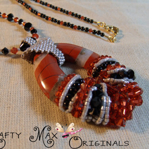 Maggies White Lace Red Jasper Necklace Set