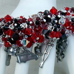 Swarovski Crystal Hand Turned Medical Charm Bracelet