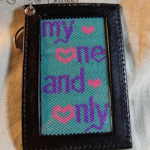 My One and Only Beadwoven Key Chain  Photo Holder