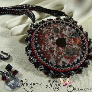 Lady Cinders – Brecciated Jasper Beadwoven Necklace