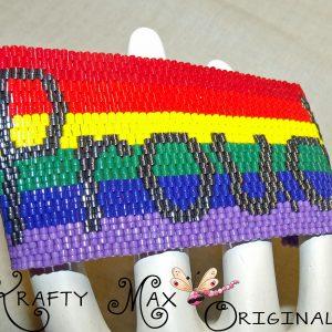 Rainbow Proud / Pride Handmade Beadwoven Bracelet