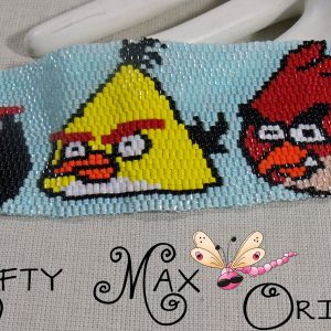 ANGRY BIRDS – Red, Yellow and Black Beadwoven Bracelet