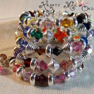 Swarovski Crystal Multi Color Spring Wire Bracelet
