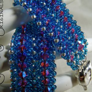 Swarovski Crystals and Seed Beads Woven Together a Pure Delight Bracelet