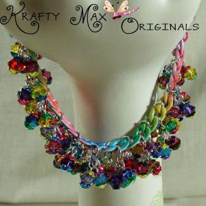 A Rainbow of COLOR Swarovski Crystal and Enameled Metal Bracelet