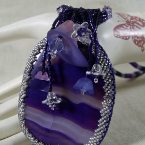 Yolanda the Beauty of Heart Flowers Beadwoven Necklace Set