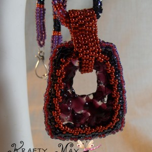 The Perfect Glow of Copper and Purple Beadwoven Necklace