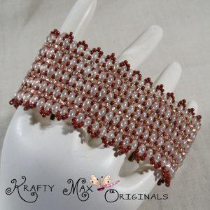 Elegance in Skin Tones Handmade Beadwoven Bracelet/Cuff