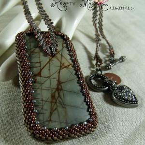 Red Creek Jasper Beadwoven Beauty Necklace