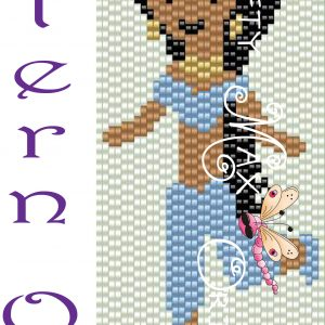 Princess Jasmine 2 Drop Peyote Design Pattern ONLY a Krafty Max Original