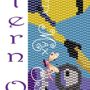 Purple and Yellow Minions 2Drop Peyote Pattern ONLY Krafty Max Design