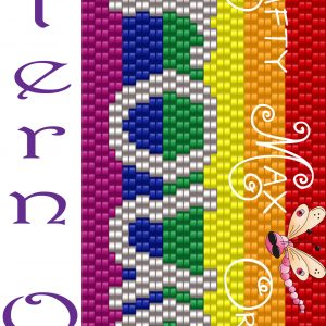 Rainbow Pride / Proud 2Drop Peyote PATTERN ONLY Krafty Max Original