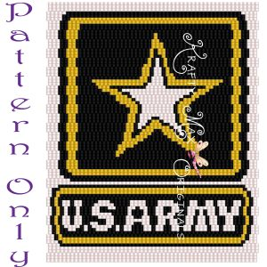United States ARMY Logo 3 Drop Peyote Pattern – a Krafty Max Original