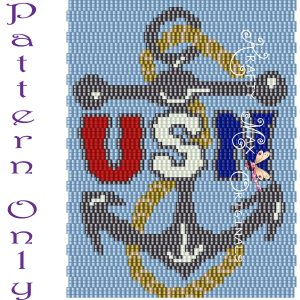 United States Navy Logo 3 Drop Peyote Pattern – a Krafty Max Original