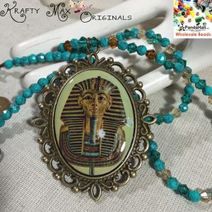 King Tut (Tutankhamun) Necklace with Findings from Panda Hall