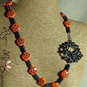 Orange and Black Are Bright and Beautiful Necklace Set