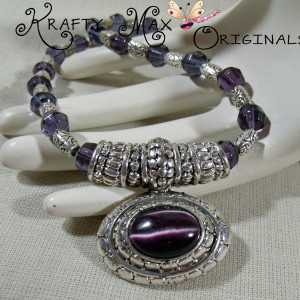 Purple Czech Beads and Silver Delight 3 Piece Necklace Set