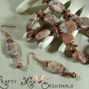 Red Marble and Copper Delight Necklace Set