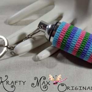 Spring Colors Beadwoven Medical Stainless Steel Key Chain Pill Fob