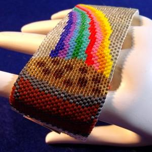 Pot of Irish Gold under the Rainbow Bracelet