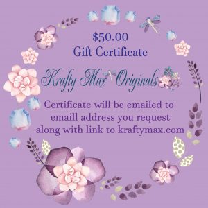 $50 Gift Certificate to Krafty Max Originals