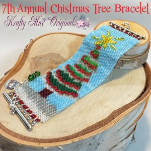 7th Annual Handmade (Beadwoven) Christmas Tree Bracelet