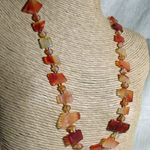 Carnelian In All Shapes and Sizes Necklace Set