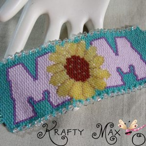 MOM – a Beadwoven Bracelet – A Krafty Max Originals Design