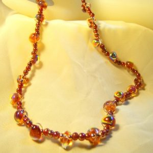 Amber Delight Glow Necklace Set