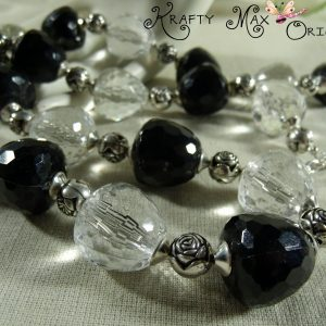 Black and White Vintage Acrylic Large Bead Set – Grandmother's STASH