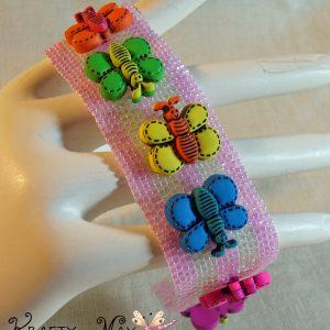 The Buttons of Butterflies Beadwoven Bracelet