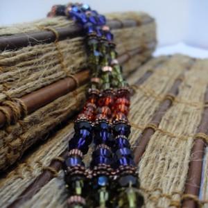 Falling for Copper Swarovski Crystal Bracelet