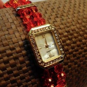 Swarovski Crystal Fire Glow Watch