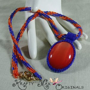 Gator Cab Beadwoven Necklace
