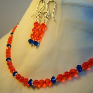 Gators Beauty Swarovski Crystal Necklace Set
