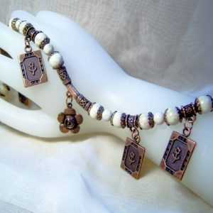 Riverstone Copper and Flowers Necklace Set