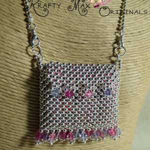 Spring and Silver – Swarovski and Silver Plated Mini Purse Necklace