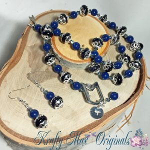 Blue on Blue with Blue Necklace Set