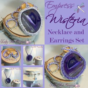 Empress Wisteria – Handmade Beadwoven Necklace and Earrings Set