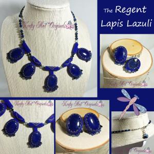 The Regent Lapis Lazuli Handmade Beadwoven Necklace Set