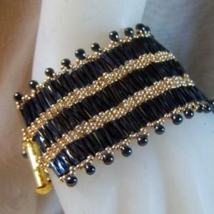 Gold and Black CUFF Bracelet