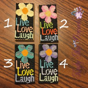 Live Love Laugh Mini Beadwoven Artwork