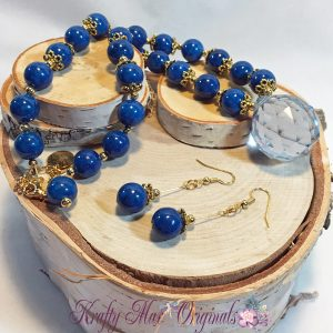 Blue is in the Air with This Blue Crystal and Blue Magnesite Necklace Set!