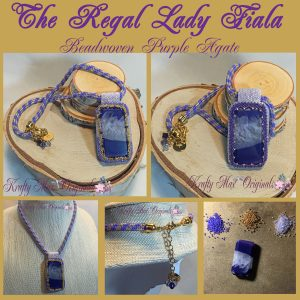 The Regal Lady Fiala Beadwoven Purple Agate Beadwoven Necklace
