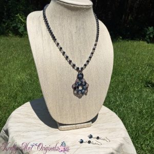 Blue Moon with Swarovski Crystal and Hematite Necklace Set