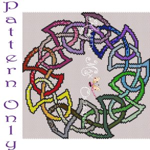Celtic Rainbow Round Knot Wall Art – PATTERN ONLY