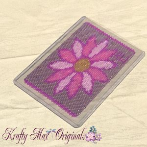 PINK and Beautiful ACEO Beadwoven Art