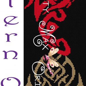Celtic Fire Dragon Wall Art – PATTERN ONLY